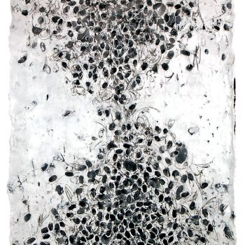 ENERGY FIELDS: Carbon Trading. Encaustic on paper, 50 x 31 inches