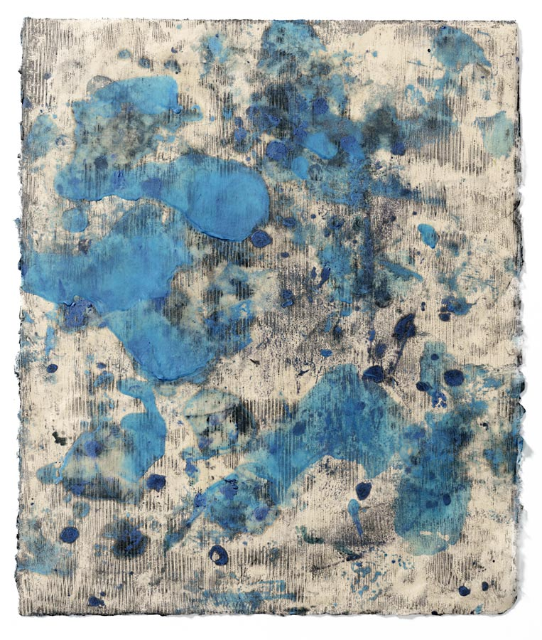 OPTIX SERIES: Optix II, encaustic monotype.