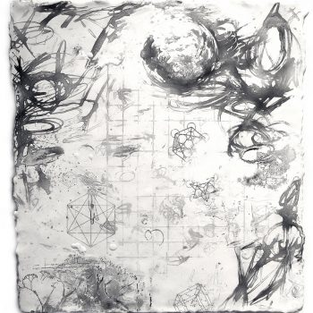 ENERGY FIELDS: In Theory. Encaustic on paper, 15 x 13.5 inches. Roland