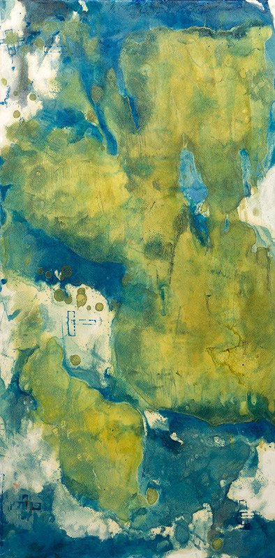Encaustic Monotypes: NAVIGATING SERIES - Emergent System
