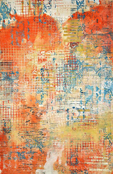 Encaustic Monotypes: BEAUTY'S LANGUAGE SERIES - Language of Beauty XII