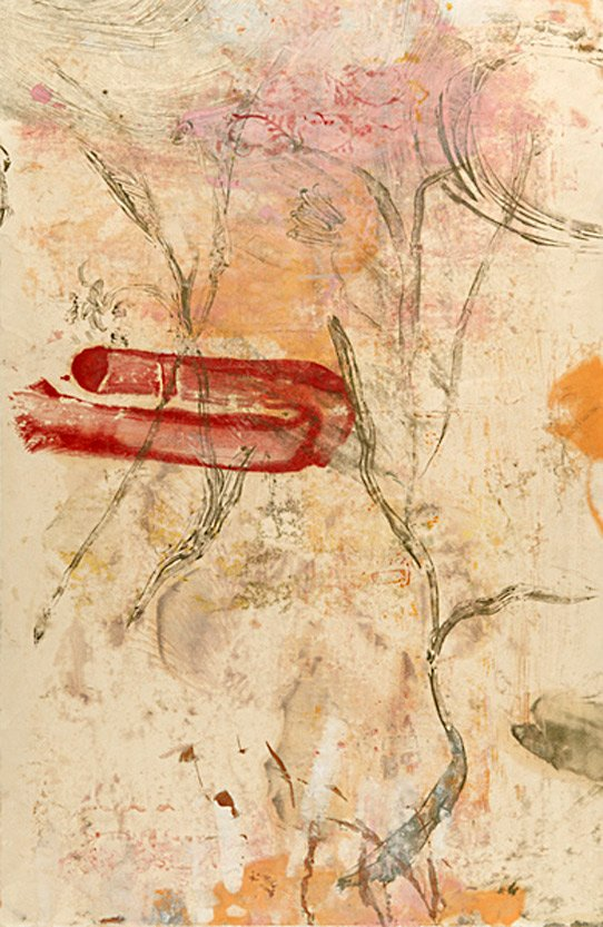 Encaustic Monotypes: BEAUTY'S LANGUAGE SERIES - Language of Beauty IV