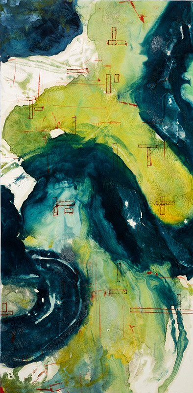 Encaustic Monotypes: NAVIGATING SERIES - Safe Harbor