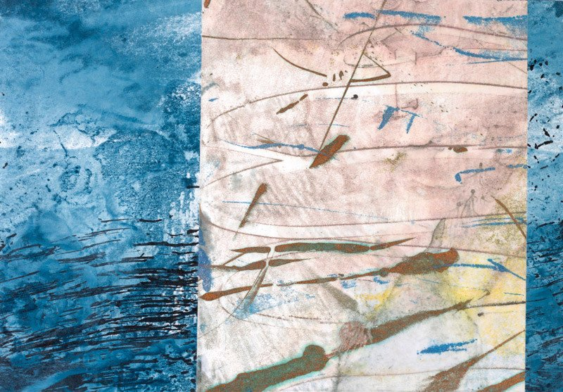 Encaustic Monotypes: NAVIGATING SERIES - Passage