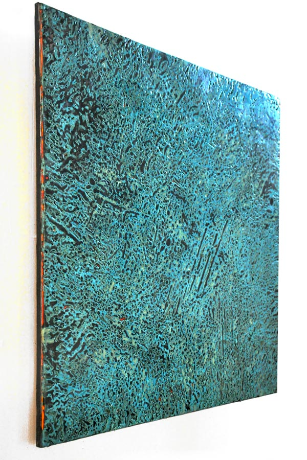 NEWLANDIA I: Terrain (side), 2013. Encaustic on wood panel. Roland