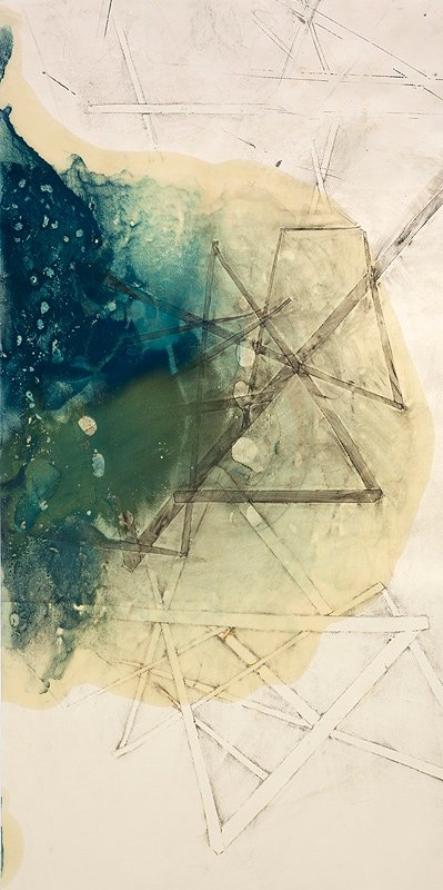 Encaustic Monotypes: NAVIGATING SERIES - True North