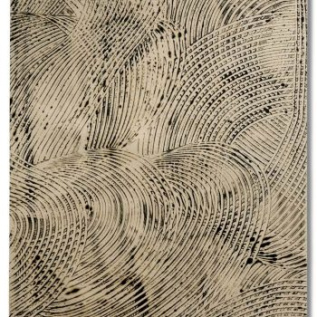 SIGHTLINES SERIES: Movement Language, encaustic on Japanese paper, unmounted 39 x 25 inches