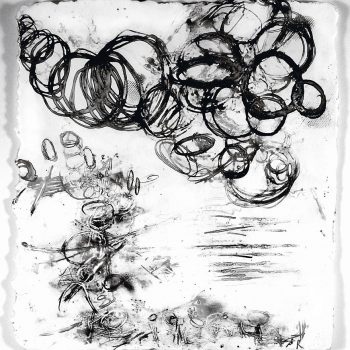 ENERGY FIELDS: Entropy. Encaustic on paper. 15 x 13.5 in