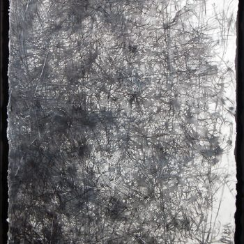 ENERGY FIELDS: Lost. Encaustic on paper, 50 x 31 inches