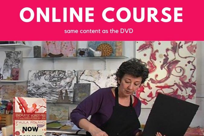 ONLINE COURSE: ENCAUSTIC MONOTYPES: Painterly Prints with Heat and Wax
