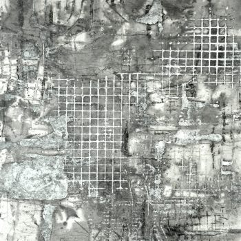 """A Way Home, 18 3/8"""" x 17.5"""", Monotype, encaustic on paper"""