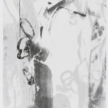 """Time Lapse 3 (2 layers)  24"""" h x 18"""" w. Monotype, encaustic on paper"""