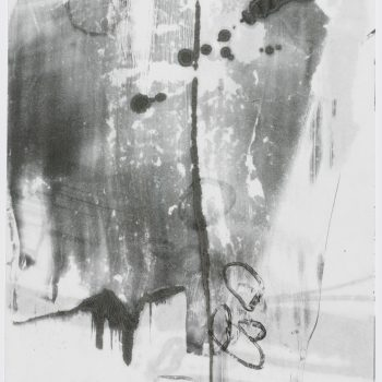 """Time Lapse 6 (2 layers)  24"""" h x 18"""" w. Monotype, encaustic on paper"""