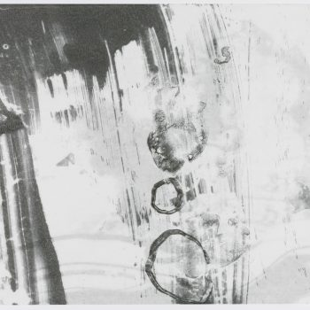 """Time Lapse 8 (2 layers) 18"""" h x 24"""" w. Monotype, encaustic on paper"""